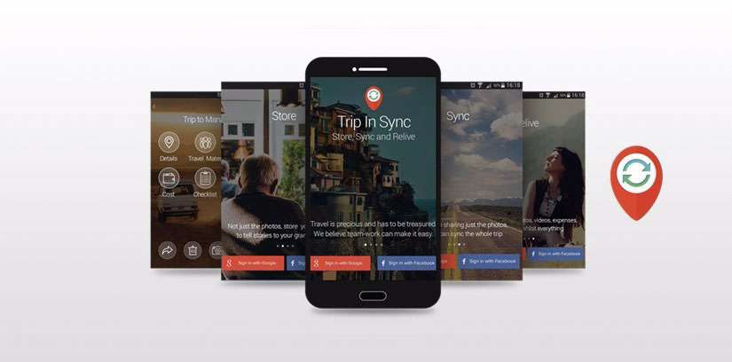 Our Work on Trip in Sync, Mobile App