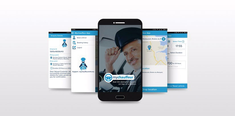 Our Work on MyChauffeur Mobile App